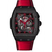 Hublot Spirit Of Big Bang All Black Red Alligator Leather Replica Watch 601.CR.0130.LR