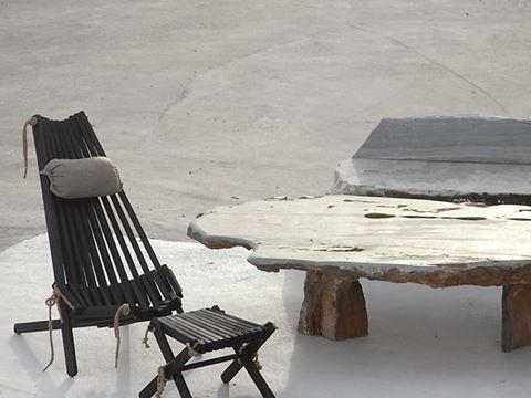 Unique Marble Table & Sun Lounger