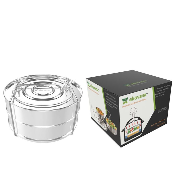 Stackable Stainless Steel Pressure Cooker Insert Pans- Instant Pot Accessories 6 Quart