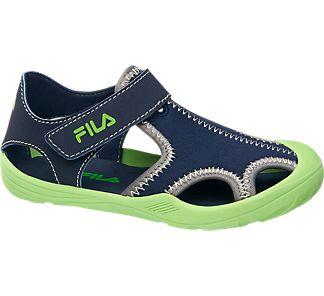 Detské plážové sandále značky Fila vo farbe modrá - deichmann.com