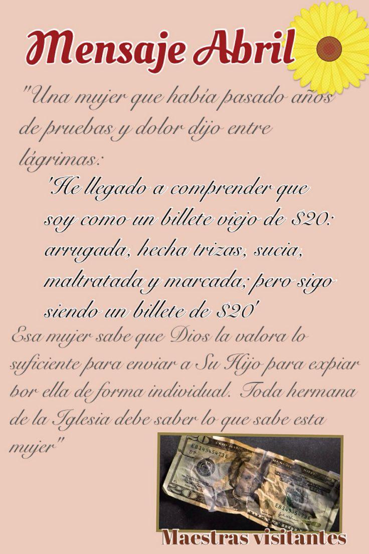 Mensaje Abril Maestras Visitantes #sud #maestrasvisitantes #sociedaddesocorro