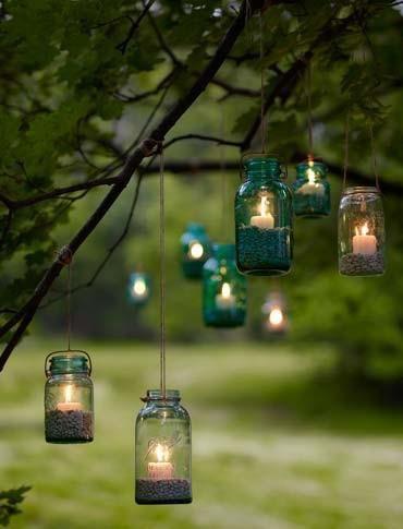 beautiful, cheap & easy: patio candle light idea