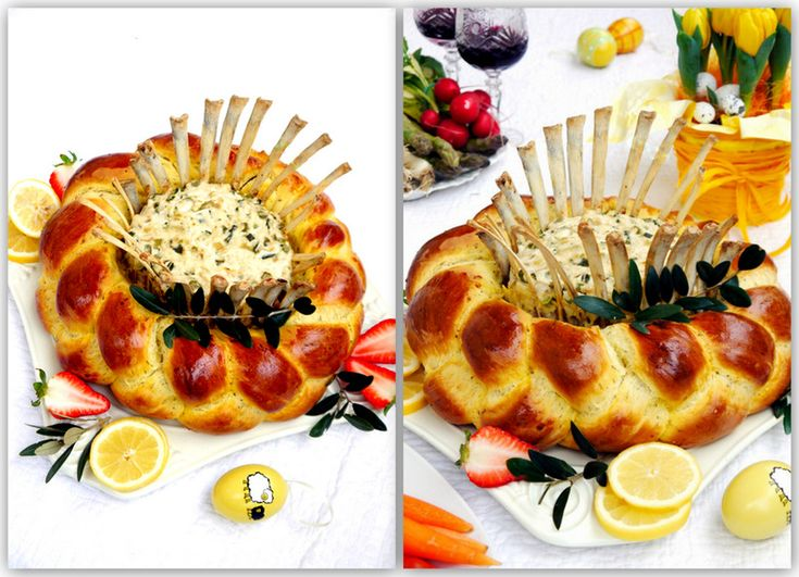 Azdora - итальянская кухня по-русски - Мясо - Corona d'agnello in treccia di pan brioche