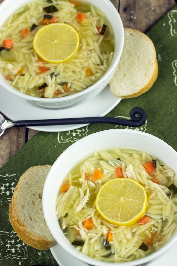 Cooking on the Front Burner: Lemon Chicken Orzo Soup