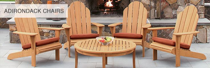 Teak Adirondack Chairs, Footstools & Benches | Country Casual