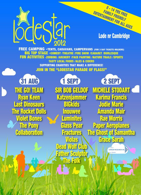 @FestivalKidz just recomended @LodeStarFest to me in cambridge to review next year