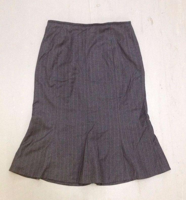 Jaeger women's lovely grey  wool skirt size 12 UK