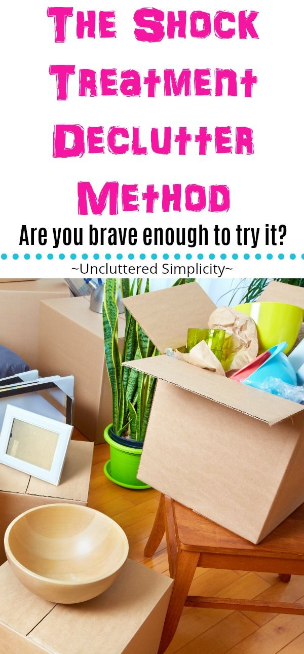 shock treatment declutter method | how to declutter | decluttering methods | how to declutter your entire home quickly | live clutter-free via @unclutteredsimplicity