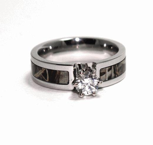 Amazing Women us Cobalt Chrome Diamond Camo Engagement Band