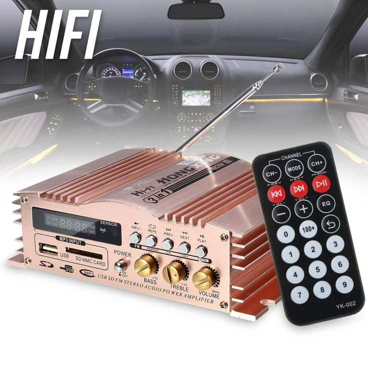 Mini Hi-Fi 600W 2 CH Stereo Audio Power Amplifier USB SD FM for Car Auto Motorcycle