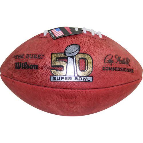 Super Bowl 50 Official Wilson Duke Game Football