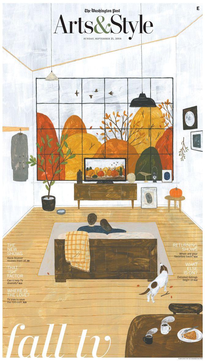 Illustrator Fumi Koike for the Washington Post's Art & Style section - Septmeber 21, 2014. Beautiful.