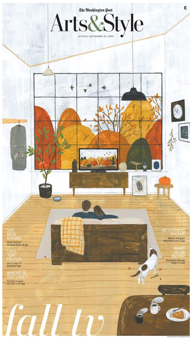 Illustrator Fumi Koike for the Washington Post's Art & Style section - Septmeber 21, 2014. Beautiful.
