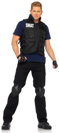 SWAT Commander Adult Costume Police Costumes