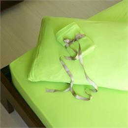 Çift Kişilik Yeşil Fitted Penye Çarşaf&Yastık Kılıfı Seti