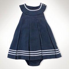 Pleated Linen Dress - Baby Girl Dresses & Skirts - RalphLauren.com