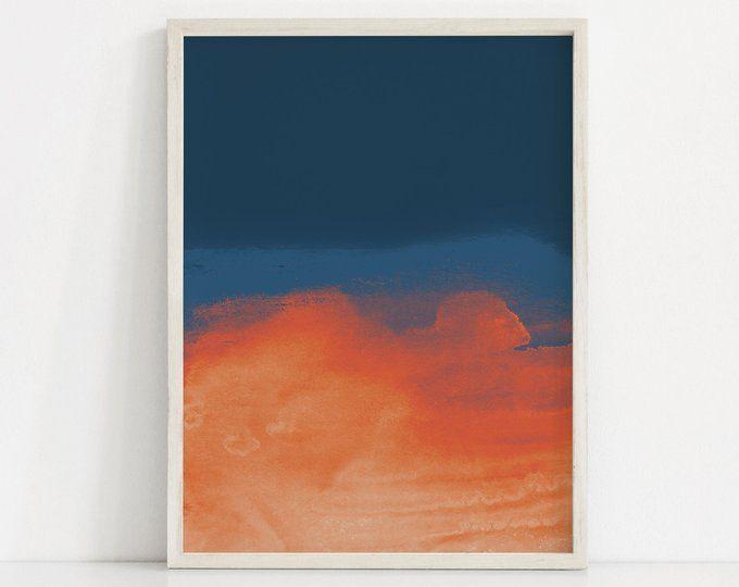 Scenic Art Prints Large Print Panoramic Abstract Prints Landscape Nursery Prints Set Navy Blue Ar With Images Scandinavian Art Print Pink Art Print Shipping Art Prints