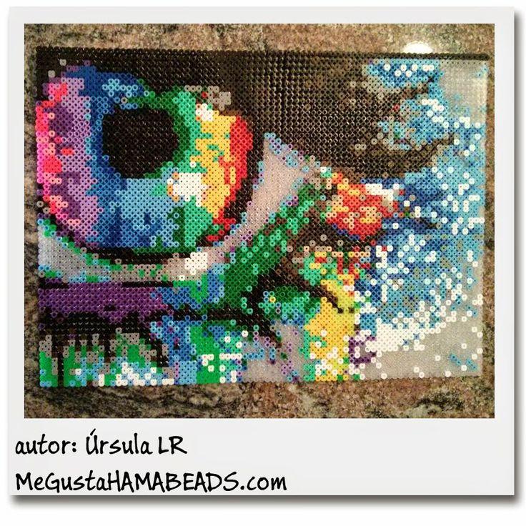 Rainbow eye hama perler bead art by Ursula LR