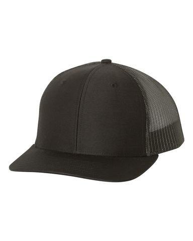 84c72fc9 Black - Snapback Trucker Hat in 2019 | Richardson Blank Snapback ...