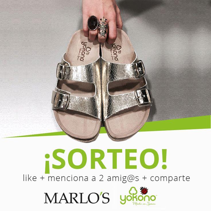 #Sorteo Marlo's & Yokono.  Consigue un par de #zapatos #Yokono tan solo siguiendo estos pasos:  🔸Sigue nuestra página y a Yokono  🔸Like a este pin y haz un comentario etiquetando a dos amigos.  🔸Compártelo.  Entre todos los participantes se realizará un sorteo a través de Sortea2.  (Del 6 al 13 de Junio de 2017)   Promoción únicamente válida para residentes en España.
