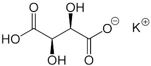 What Is Cream of Tartar?: This is the chemical structure for cream of tartar or potassium bitartrate.