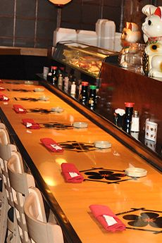 KOBE Japanese Steakhouse & Sushi bar. Has both traditional shows and regular booths available.  @Birmingham Fun and Family Magazine