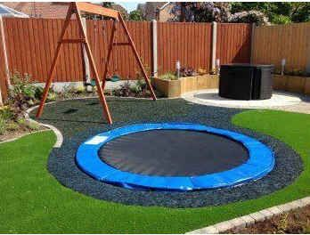 A Sunken Trampoline | 32 Outrageously Fun Things You'll Want In Your Backyard This Summer The kids would live this