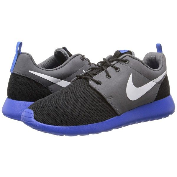 Nike Roshe Run ($75) ❤ liked on Polyvore featuring men's fashion, men's shoes, men's athletic shoes, shoes, sneakers & athletic shoes, mens lightweight running shoes, mens lace up shoes, nike mens shoes and nike mens athletic shoes