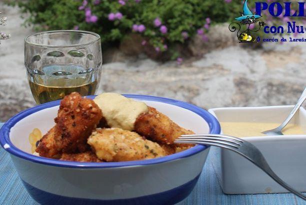 Pollo con salsa de nueces