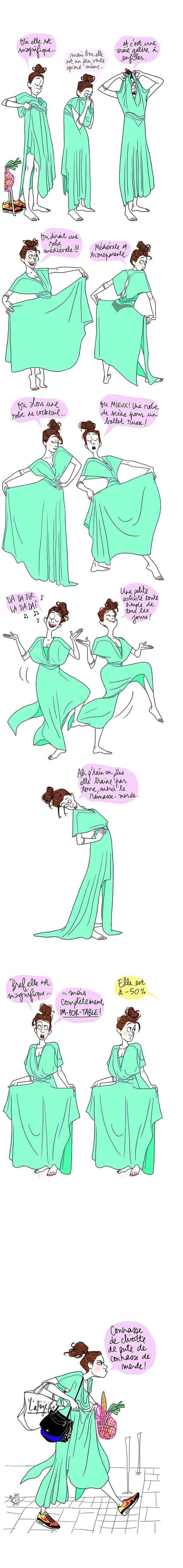 La robe couleur bd