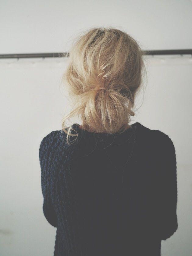 Trendy Hair Style 2017/2018 :    Low messy bun  - #HairStyle https://youfashion.net/trends/hair-style/trendy-hair-style-low-messy-bun/
