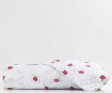 Copriletto matr. in cotone percalle Baccarat rosso - 260x270 cm