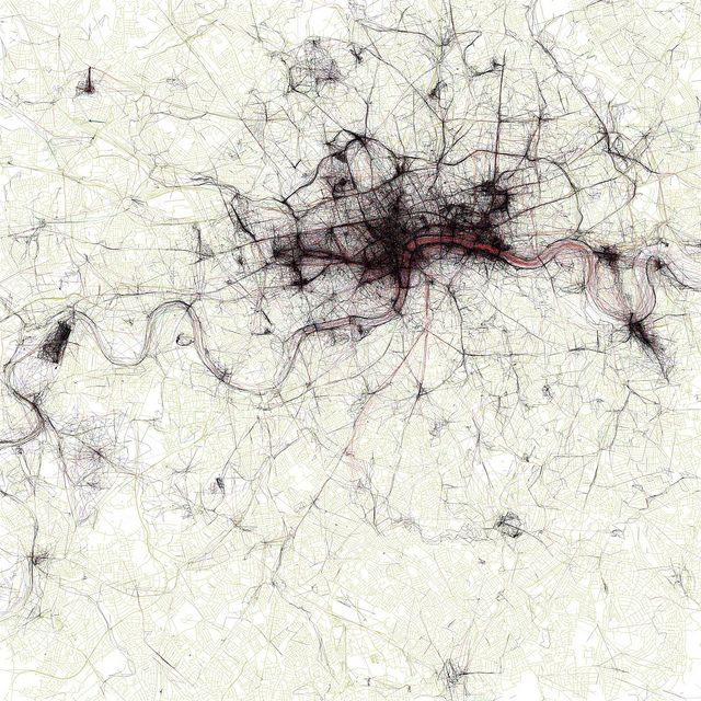 The Geotaggers' World Atlas #2: London by Eric Fischer, via Flickr