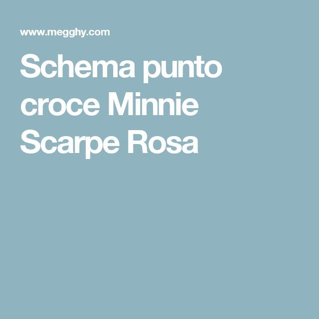 Schema punto croce Minnie Scarpe Rosa