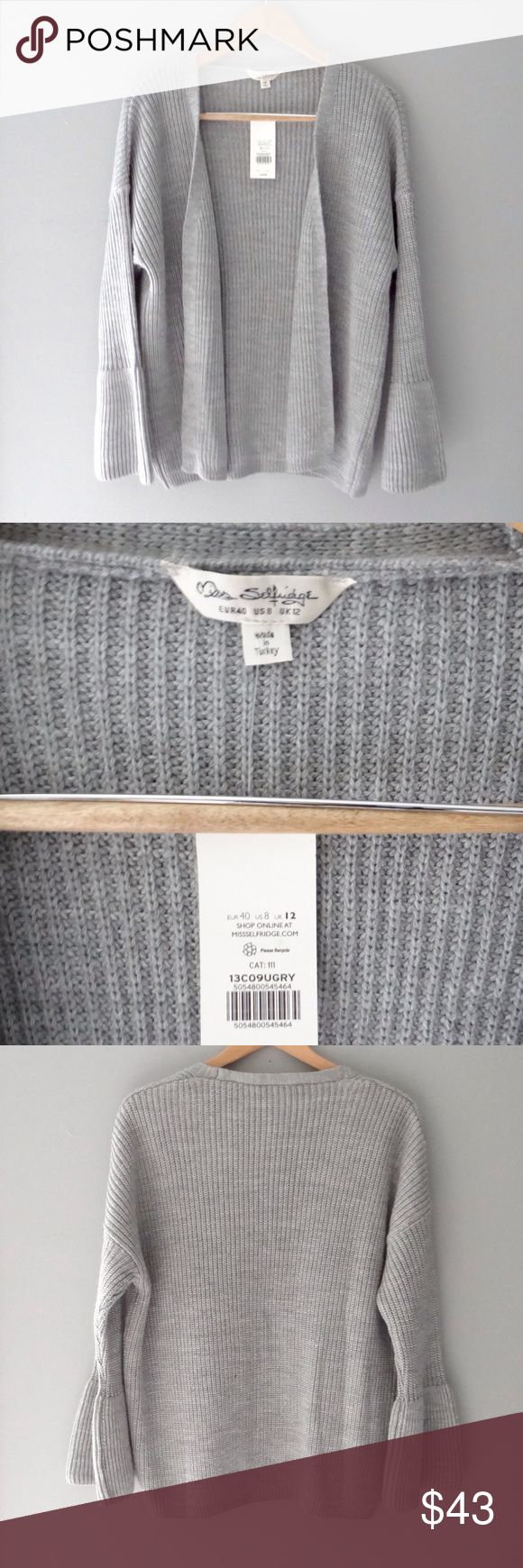 Miss Selfridge Open Front Cardigan NWT Never worn, open front cardigan. Material content; 100% acrylic Miss Selfridge Sweaters Cardigans