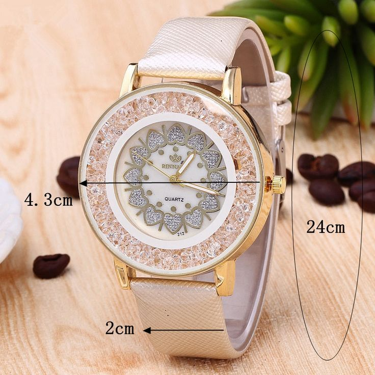 Classic Heart Rock Beads Wristband PU Leather Watch Quartz Women's Watches Wholesale online - NewChic