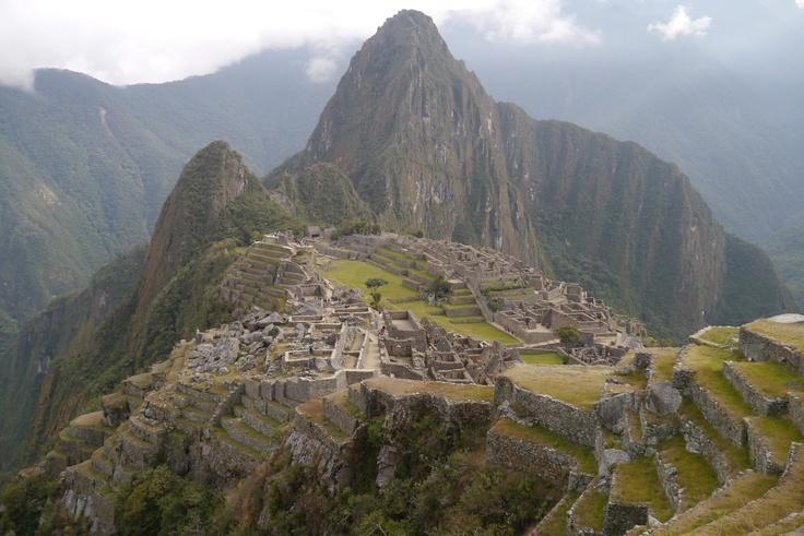 Arrivée au Machu Picchu après 4 jours de trek sur le chemin de l'Inca — août 2012