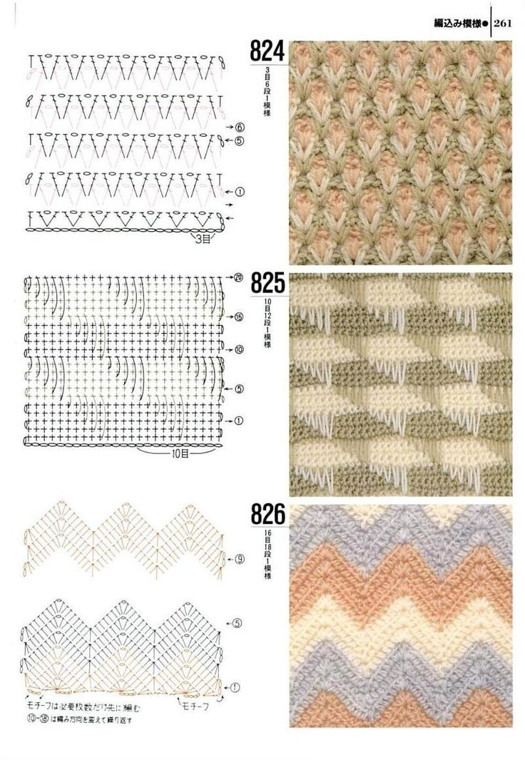 1000 Knitting Patterns Ebook Download : Knitting patterns book 1000 - 824 - 825 - 826 PADROES DE CROCHE Pinterest...