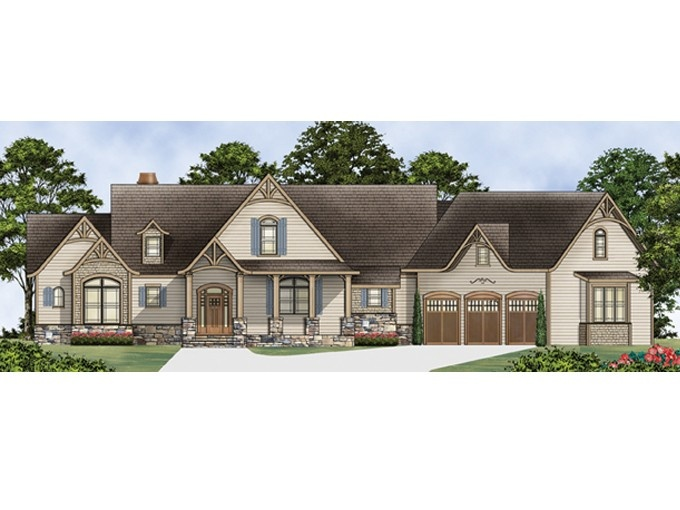 Ranch house plan with 2498 square feet and 3 bedrooms from for Ranch house plans with bedrooms together
