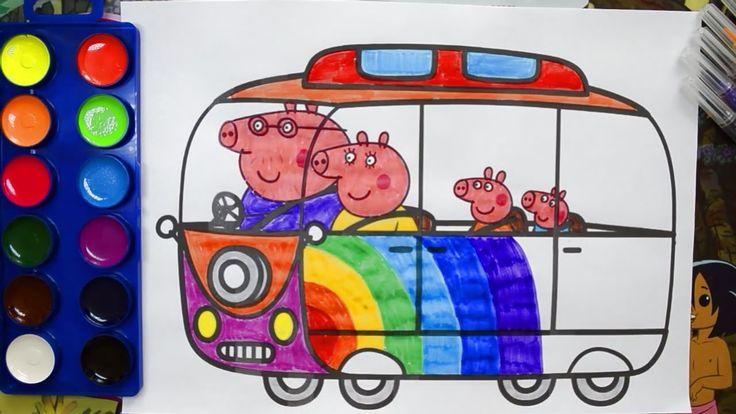 Свинка Пеппа со своей семьей и ее друзья в поезде видео ...