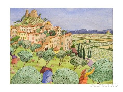 Tuscan Travel, 2009 Giclee Print by Victoria Webster - AllPosters.co.uk