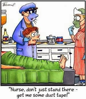 (via Funny Surgeon Nurse Duct Tape Cartoon | Funny Joke Pictures)
