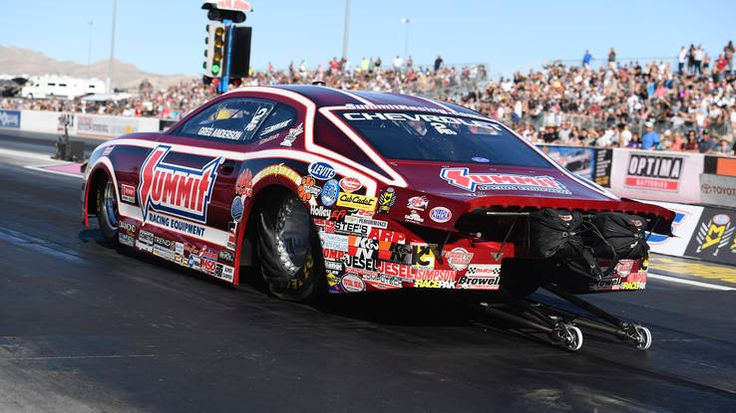 Anderson raced a 6.663 at 205.35 in his Summit Racing Equipment Chevrolet Camaro during Friday evenings qualifying session. PHOTO BY NHRA   Read more: http://autoweek.com/article/nhra/nhra-toyota-nationals-saturday-qualifying-results-vegas-sunday-elimination-pairings#ixzz4wvyMqvQX