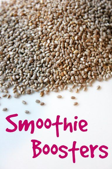 Smoothie Boosters - things you can add to smoothies for a healthy boost!