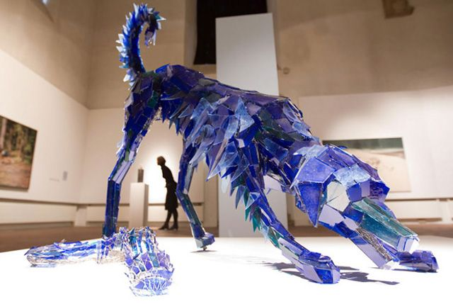 Artist Creates Beautiful Sculptures From Shards Of Glass