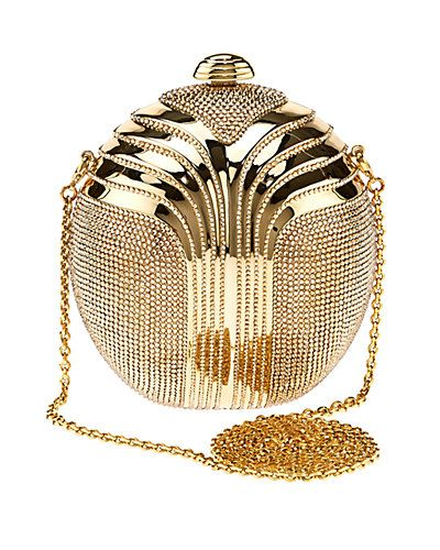 "Some of you have to get in on this: Judith Leiber ""Partbead"" Deco Oval Crystal Clutch"