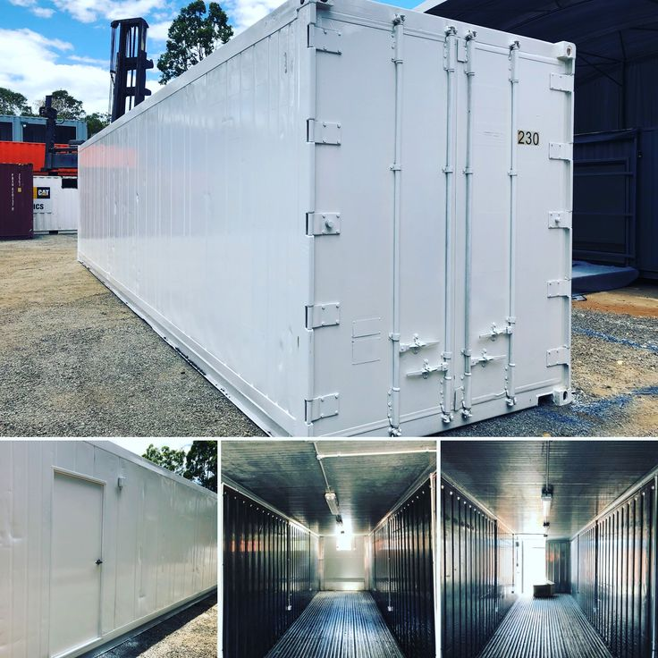 Used 40' high cube refrigerated container with a few modifications and an electrical fit out.   We have removed the non operational machinery and replaced with EPS panel. The cut out is for a box AC unit.   Multiple power points have been fitted and additional lighting.   Contact the team at Premier Box today to discuss your container ideas.   07 3888 3011 or send us an email sales@premierbox.com.au