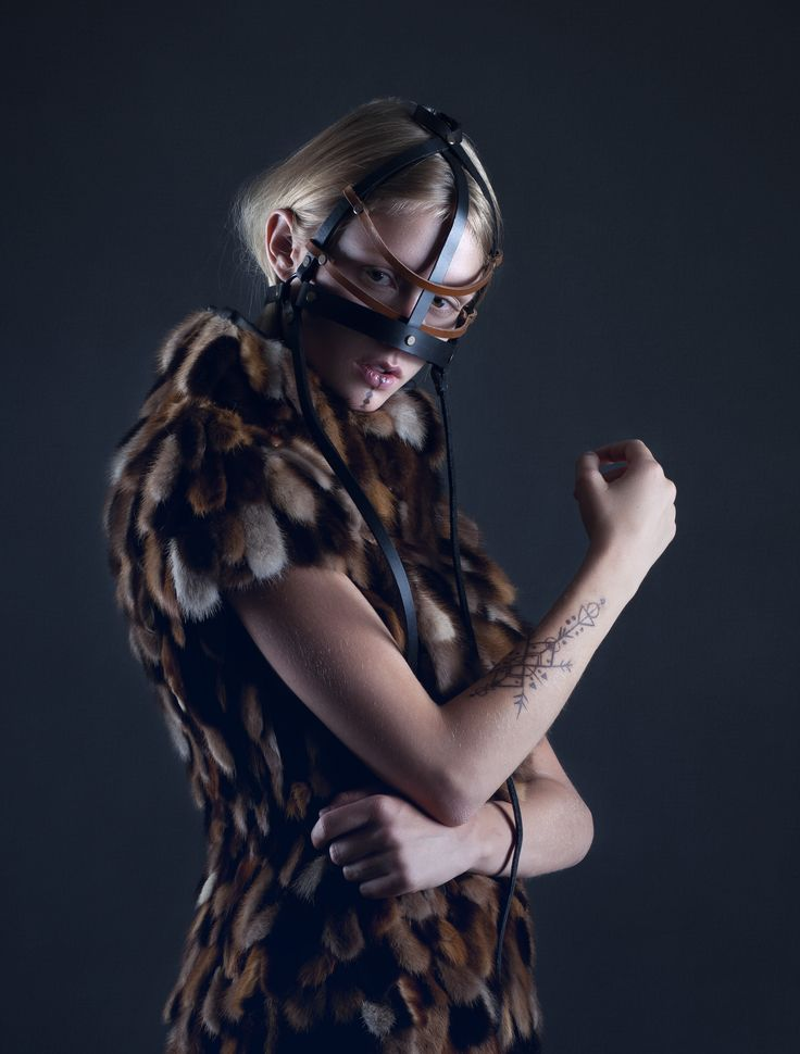 My winning dress from the Saga furs competition.  By Christine Andresen / Antidote