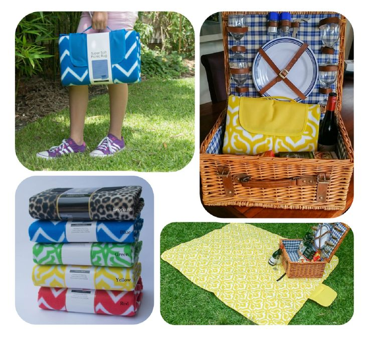 Picnic anyone? Wonderful coloured picnic rugs by Darcy & Duke. Shop with Gable & Jack