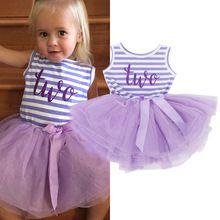Verão Vestidos De Aniversário para o Bebê Menina de 1 2 3 Ano Bebê recém-nascido Meninas Boutique de Roupas Infantis Casuais Princesa Tarja Tutu vestido(China (Mainland))